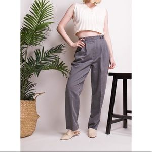 Vintage 90s gray high waist minimal trouser pants